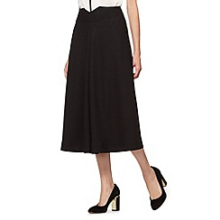 Preen/EDITION - Designer black crepe circle skirt