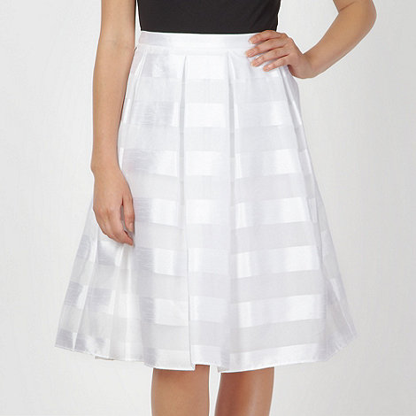 Jonathan Saunders/EDITION - Designer white devore striped skirt
