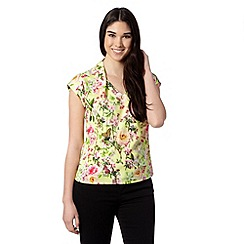 Preen/EDITION - Designer lime floral top