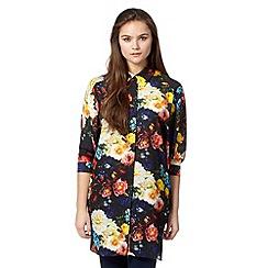 Preen/EDITION - Designer black floral blouse