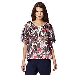 Butterfly by Matthew Williamson - Designer ivory butterfly gypsy top