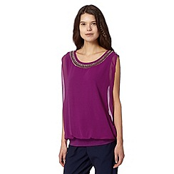 Butterfly by Matthew Williamson - Designer purple beaded double layer top