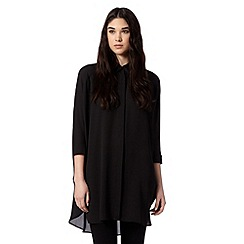 Preen/EDITION - Designer black oversized blouse