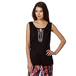 Butterfly by Matthew Williamson - Designer black embellished front top