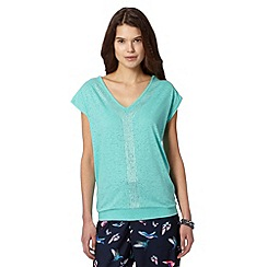 Butterfly by Matthew Williamson - Designer aqua studded neck t-shirt