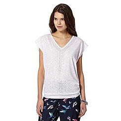 Butterfly by Matthew Williamson - Designer off white studded neck t-shirt