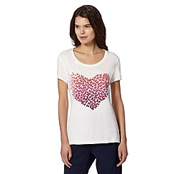 Butterfly by Matthew Williamson - Designer white butterfly heart top