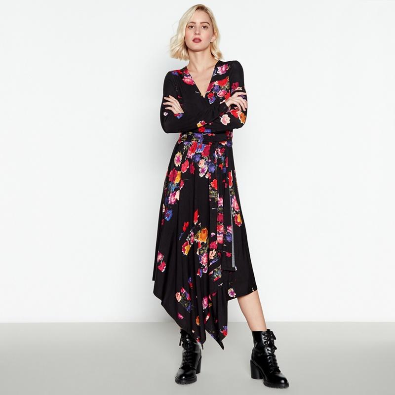 2fd6bb68621 Studio by Preen - Multicoloured Floral Midi Wrap Dress