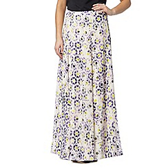 Preen/EDITION - Designer purple tiled print maxi skirt
