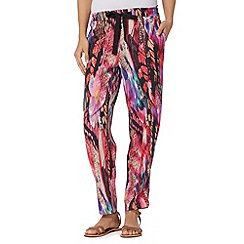 Butterfly by Matthew Williamson - Designer pink blurred butterfly trousers