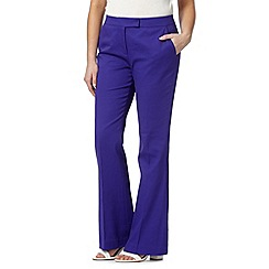 Preen/EDITION - Designer purple pique kick flare trousers