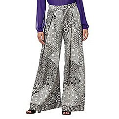 Preen/EDITION - Designer white mosaic print wide leg trousers