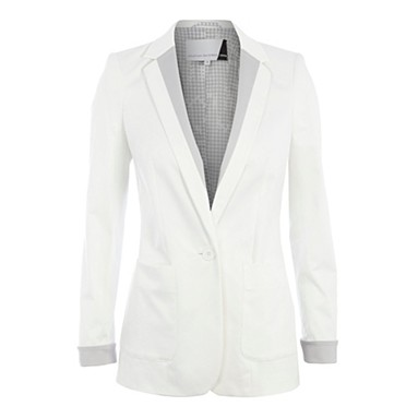 White colour block blazer - Jackets - Coats & jackets - Women -