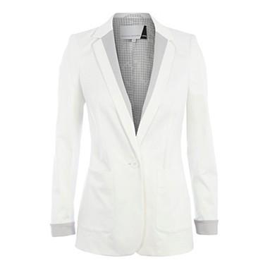 White colour block blazer - Jackets - Coats & jackets - Women -