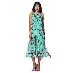 Butterfly by Matthew Williamson - Designer aqua butterfly print dress