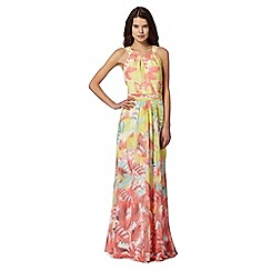 Butterfly by Matthew Williamson - Designer pink sleeveless floral maxi dress