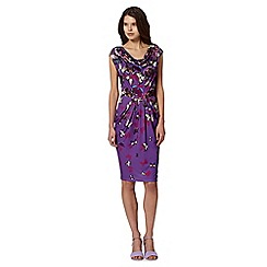 Butterfly by Matthew Williamson - Designer purple butterfly drape dress