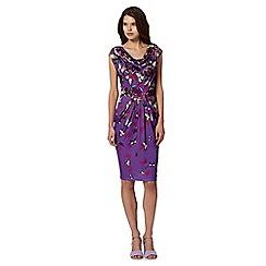 Butterfly by Matthew Williamson - Designer purple butterfly drape dress