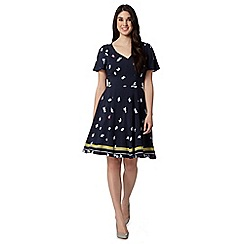 Preen/EDITION - Designer navy floral ditsy tea dress