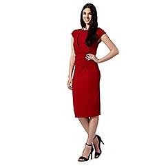 Todd Lynn/EDITION - Designer red ruched kimono dress