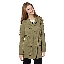 Preen/EDITION - Designer olive combat jacket