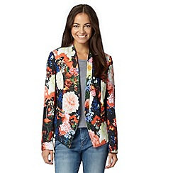 Preen/EDITION - Designer orange digital floral jacket
