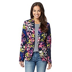 Preen/EDITION - Designer navy scattered ditsy floral jacket