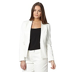 Preen/EDITION - Designer ivory edge to edge pique jacket