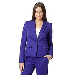 Preen/EDITION - Designer purple pique blazer