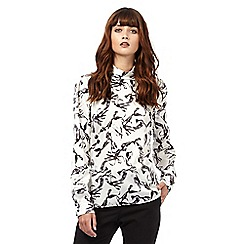 Giles/EDITION - Ivory bow print shell top
