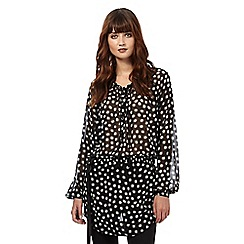 Giles/EDITION - Black long-line spotted tunic