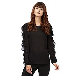 Giles/EDITION - Black frill sleeve blouse
