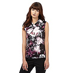 Giles/EDITION - Pink rose print shell top