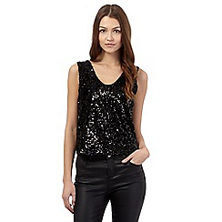 Todd Lynn/EDITION - Black V neck sequin top