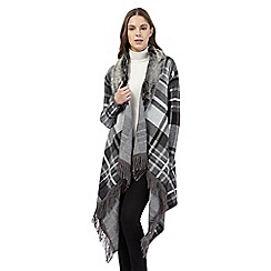 Preen/EDITION - Grey check blanket cardigan
