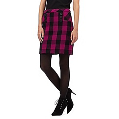 Giles/EDITION - Dark pink checked skirt