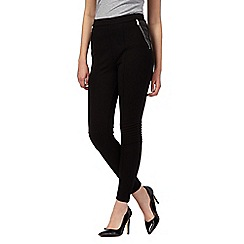 Todd Lynn/EDITION - Black PU panel biker leggings