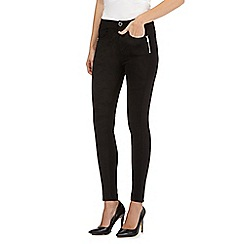 Todd Lynn/EDITION - Black suedette front zip detail leggings