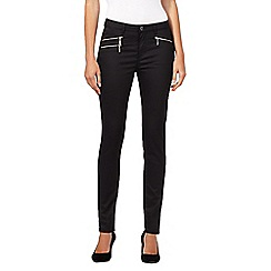Preen/EDITION - Designer black wet look jeans
