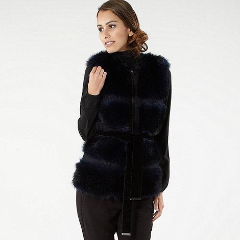 Roksanda Ilincic/EDITION - Navy faux fur gilet
