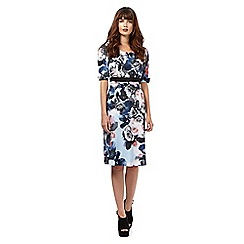 Giles/EDITION - Light blue rose print dress