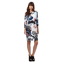 Giles/EDITION - Light blue rose print bubble dress