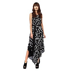 Giles/EDITION - Black 'Diva' bow print dress