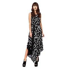 Giles/EDITION - Black 'Diva' bow print dress