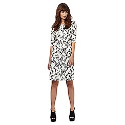Giles/EDITION - Ivory bow print shift dress