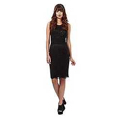 Giles/EDITION - Black 'Bardot' lace embellished dress