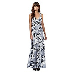 Giles/EDITION - Grey horse print maxi dress