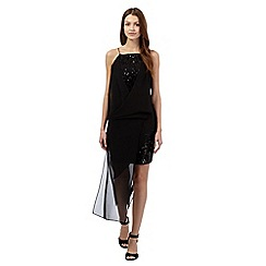 Todd Lynn/EDITION - Black sequin drape dress