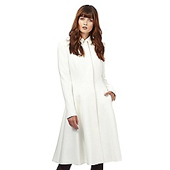Giles/EDITION - Ivory fit and flare coat