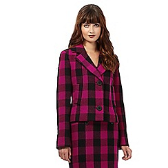 Giles/EDITION - Dark pink checked jacket